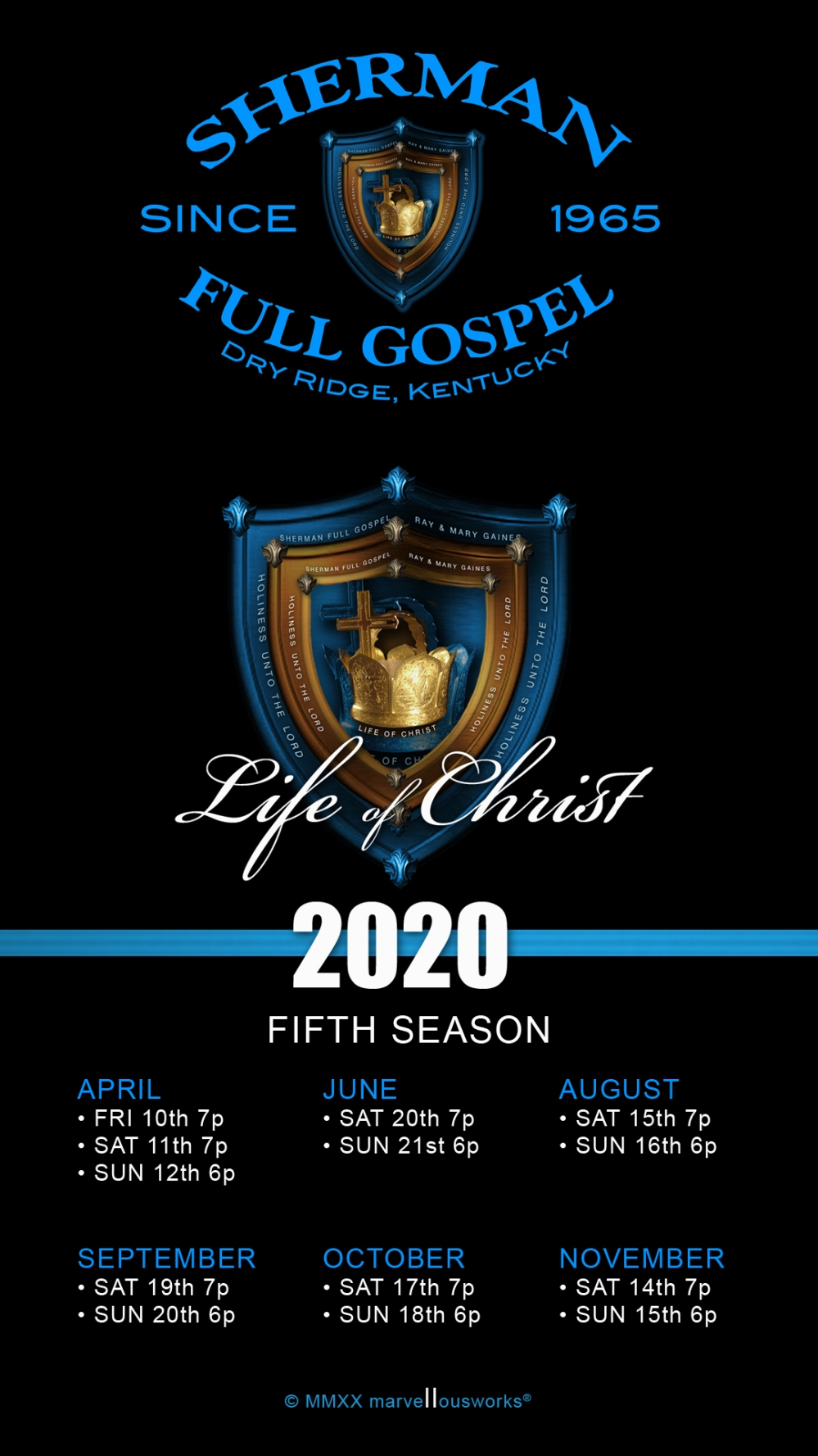 LOC 2020 Schedule